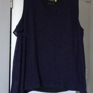 Lysse Tops - Navy tank with shaper shell